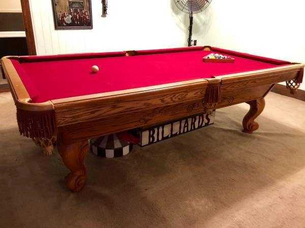 Solo 174 Lafayette Brunswick Manchester Oak Pool Table 8